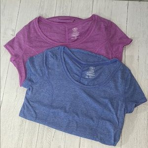 Athletic Blue and Pink Workout Top Bundle